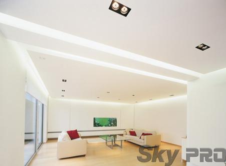 Двухуровневый парящий потолок