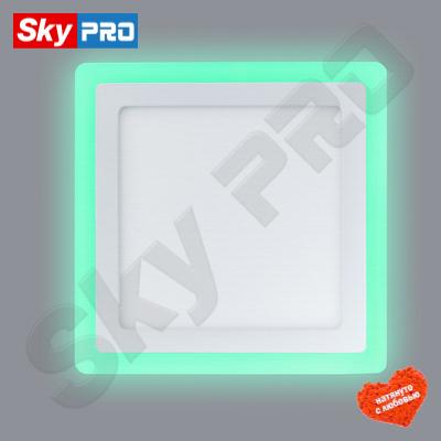 Светодиодный светильник LPL 6+3 w с зелёной подсветкой